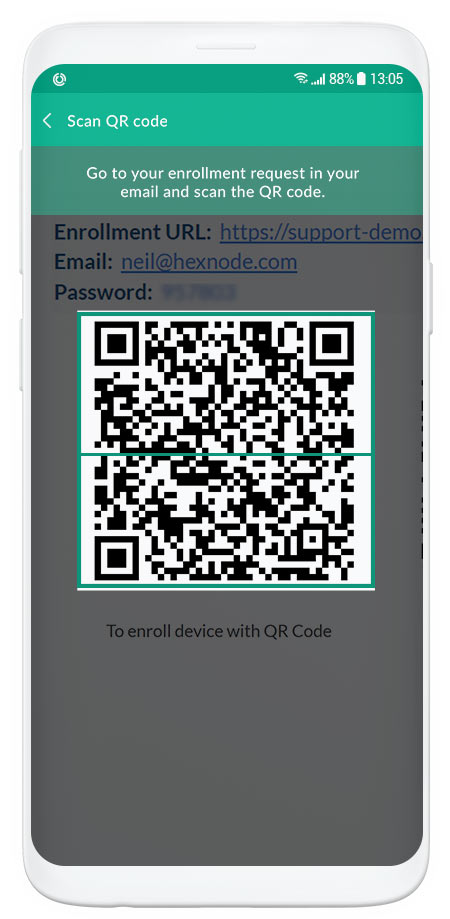 qr code enrollment