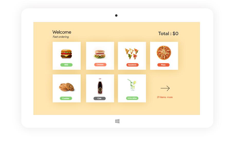 POS web-based kiosk