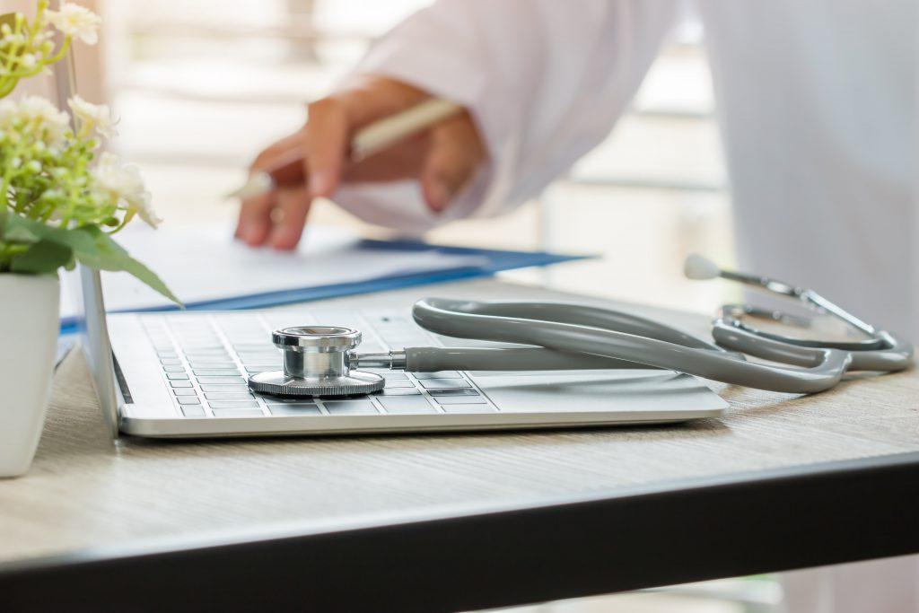 doctor facilitating telemedicine