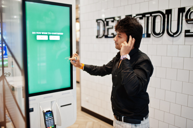 A consumer-facing Android kiosk device