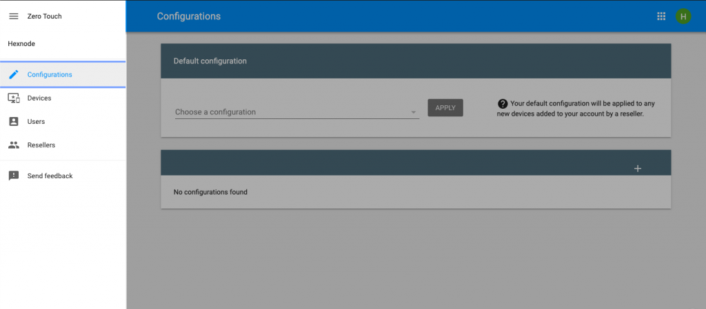 Android Zero touch enrollment portal