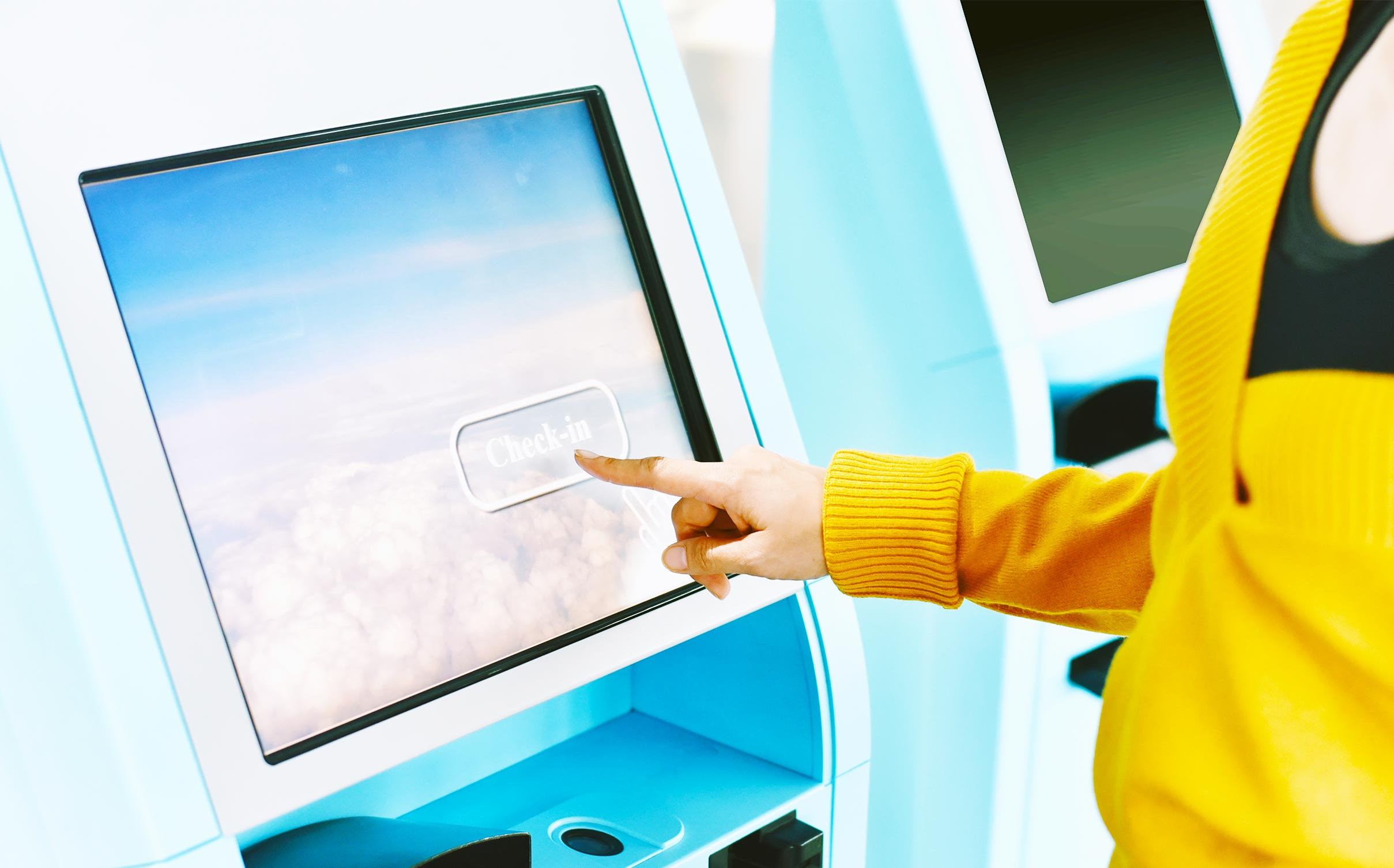 Self check-in at airports