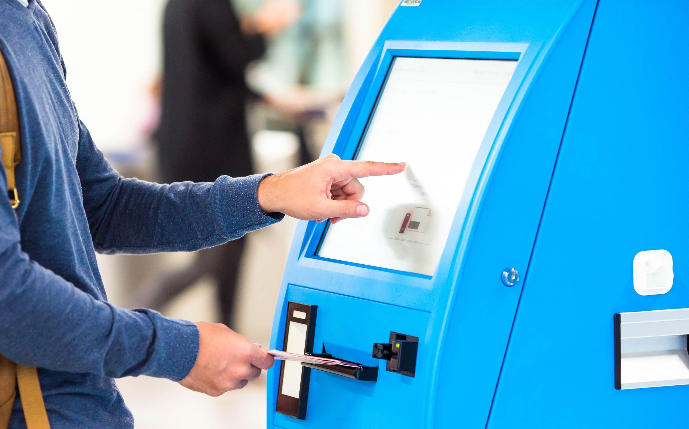 Ticketing kiosks at movie theatres