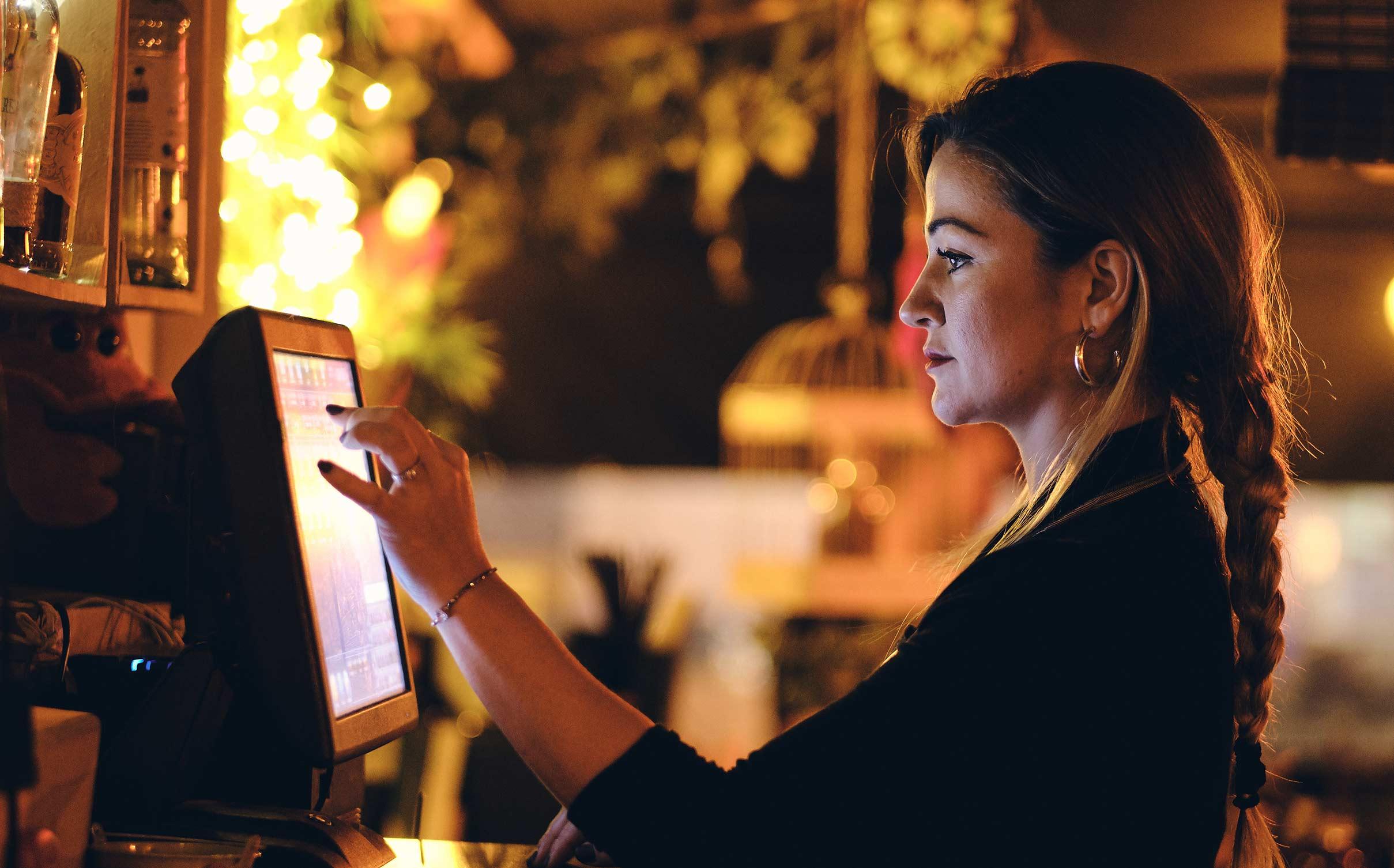 Self-ordering kiosks at restaurants