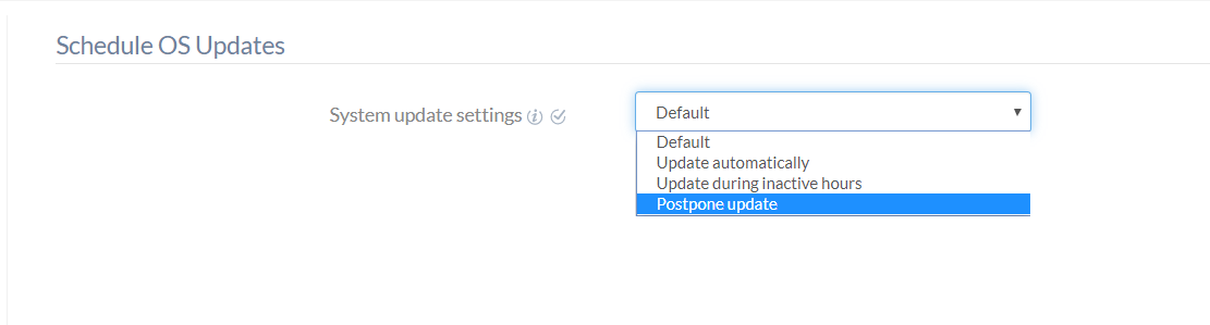 Schedule OS Updates policy for Android