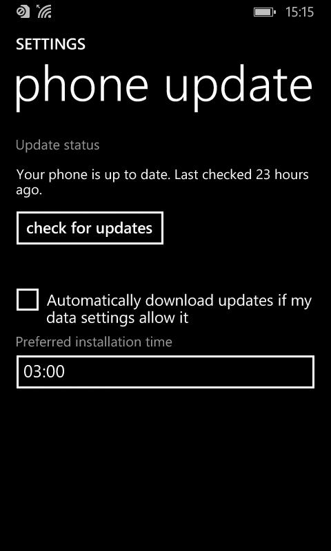 OS updates in Windows phone