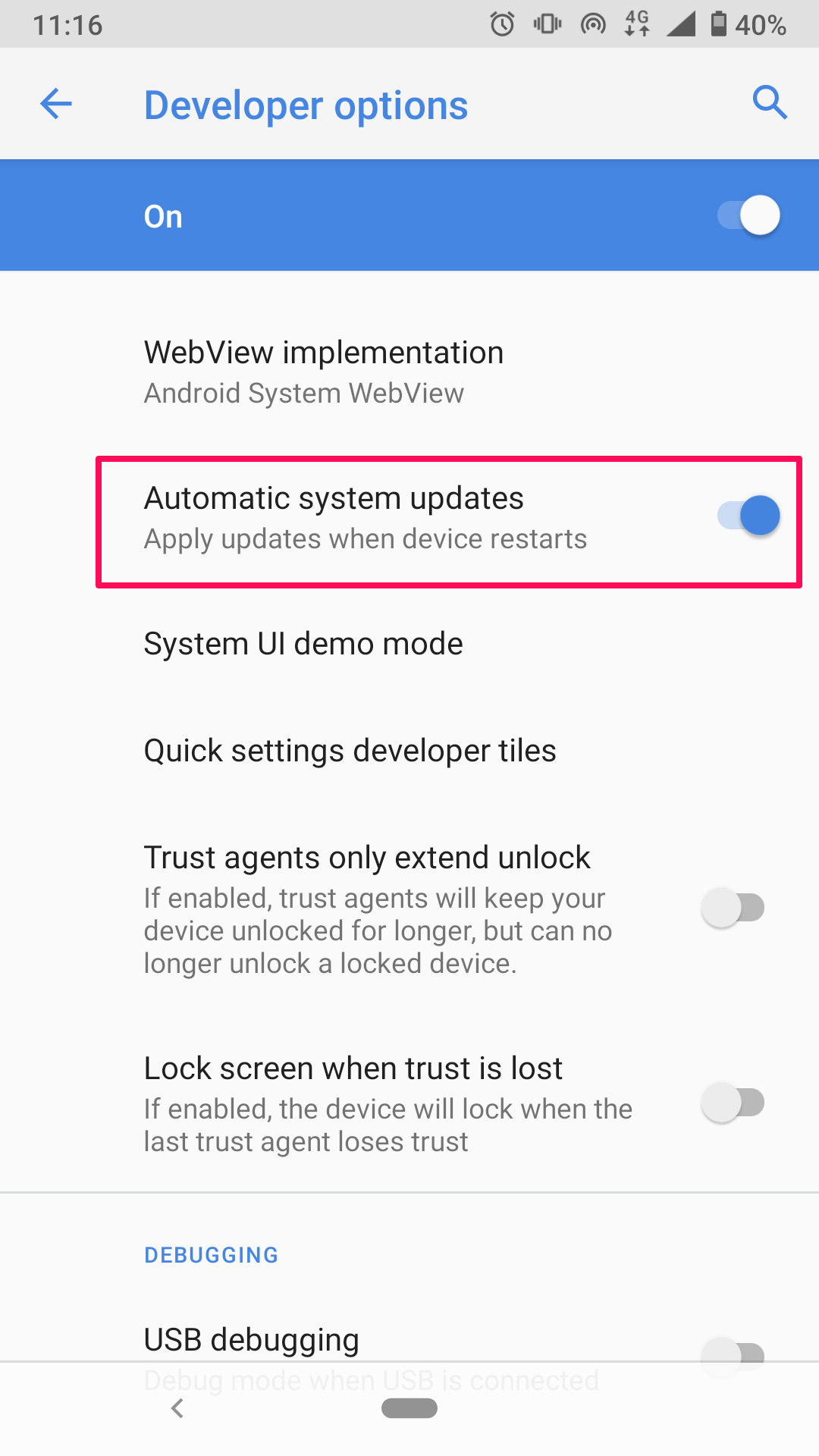 Block automatic system updates