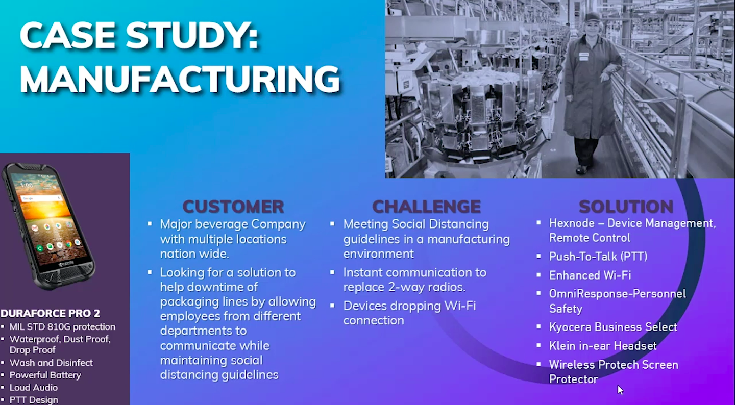 Case study Manufacturing