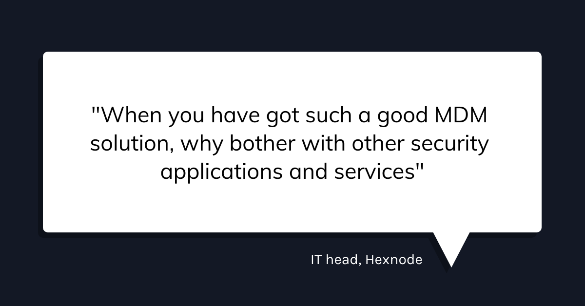 How hexnode uses hexnode to manage hexnode manager quote 3