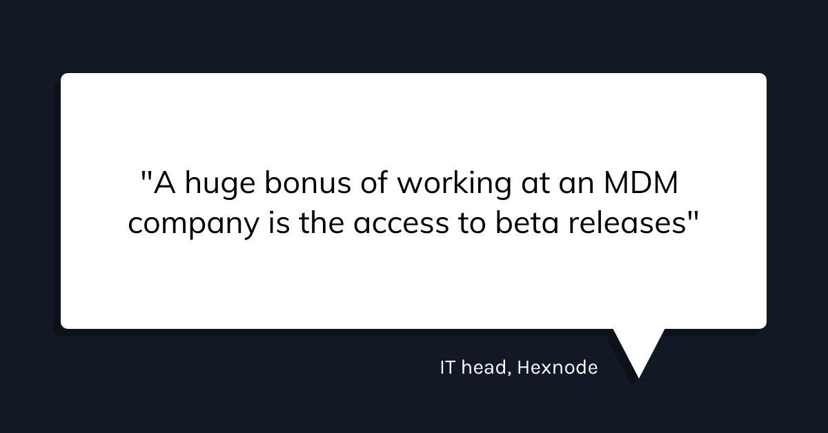 How hexnode uses hexnode to manage hexnode manager quote 2