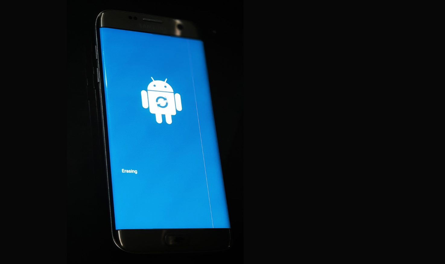 Factory resetting a Samsung Knox mobile device