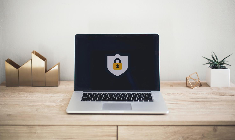 An encrypted laptop