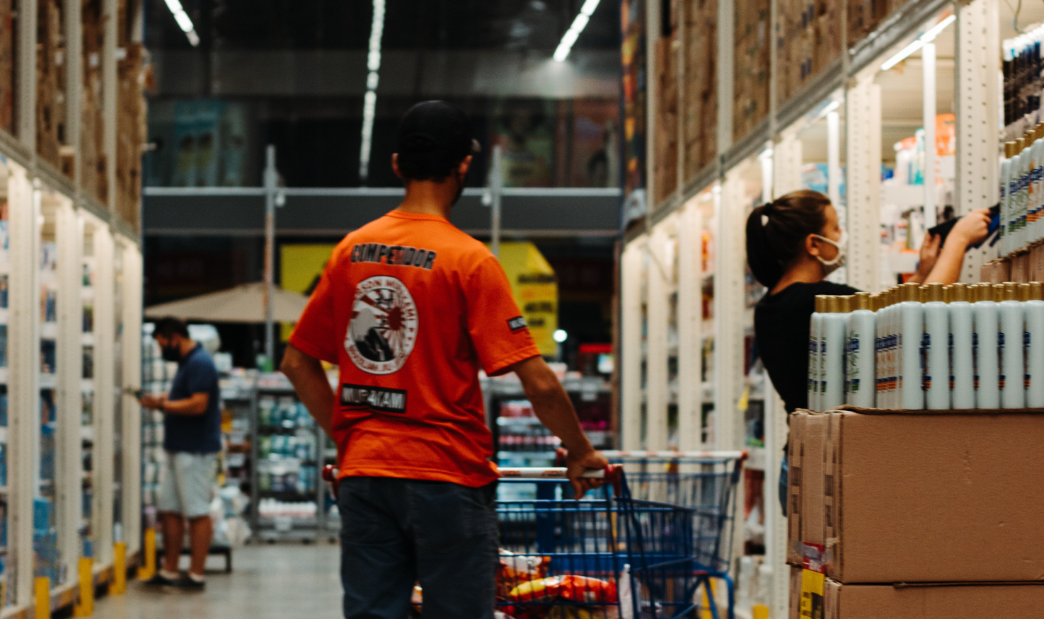 Customers in a Home Depot