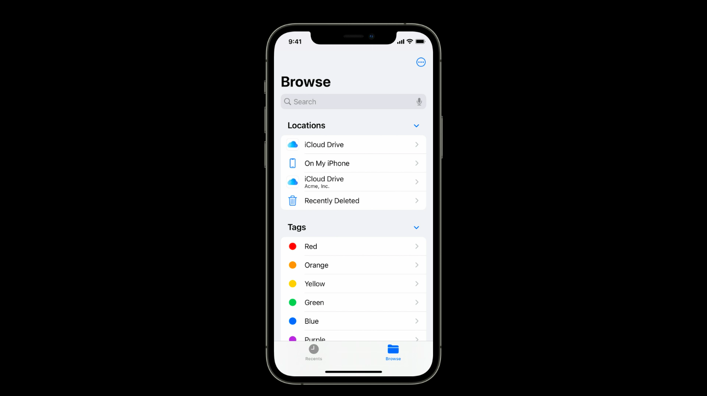 iCloud drive for managed account in iOS