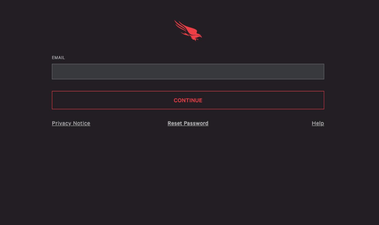CrowdStrike Falcon login page