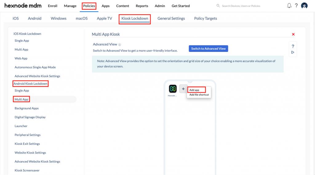 Adding multiple web apps