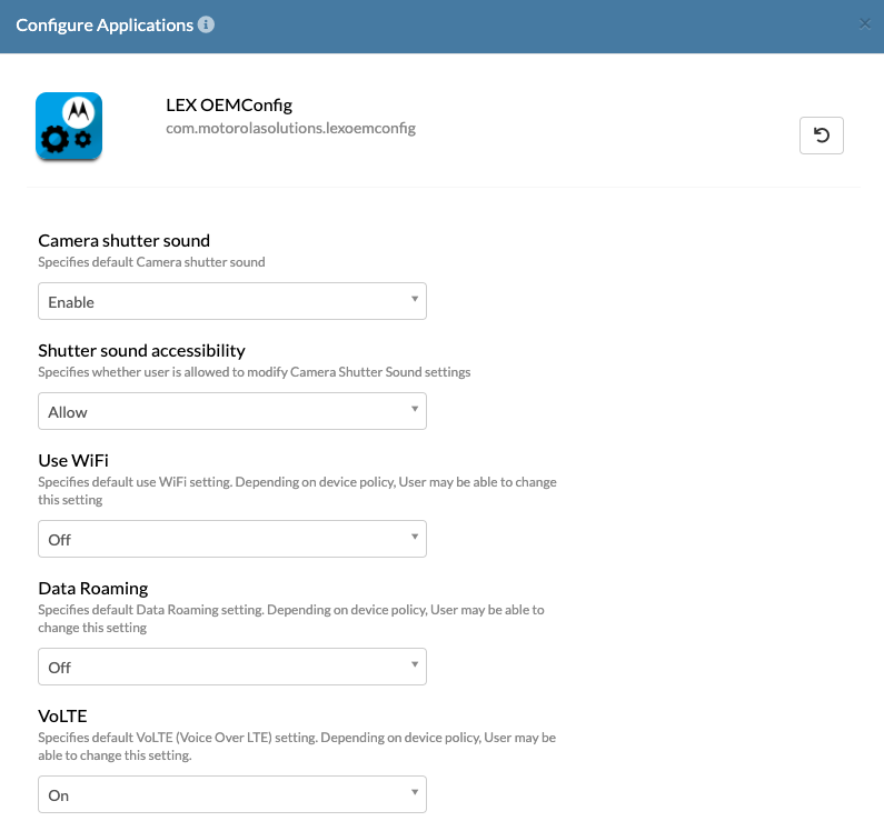 Customize the device configurations on Motorola with LEX OEMconfig app