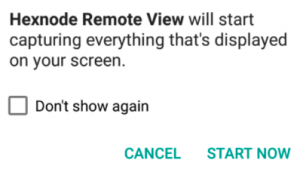 Grant Remote View Permissions in Android version 9 and below