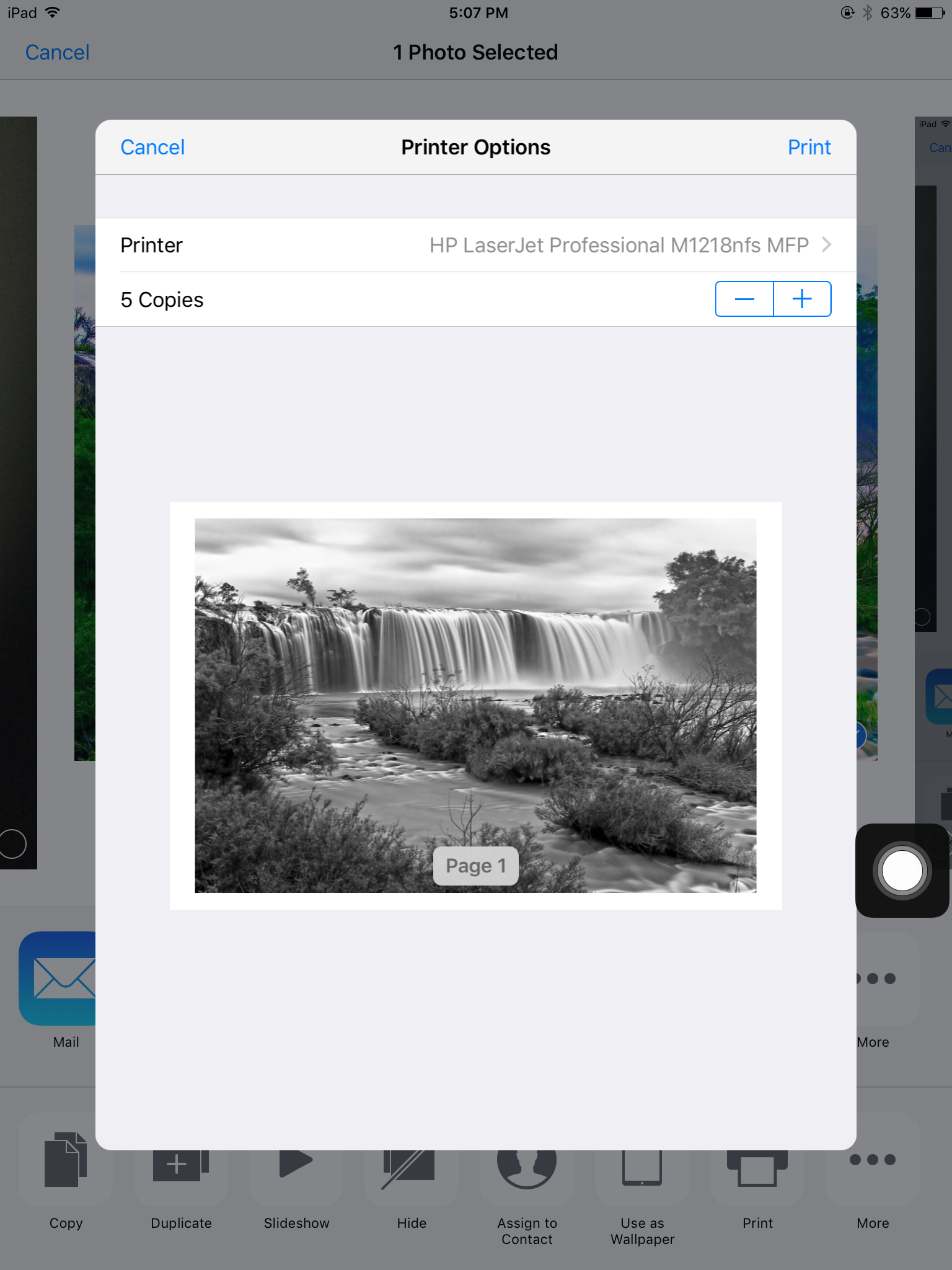 configure airprint on iOS devices using Hexnode MDM.