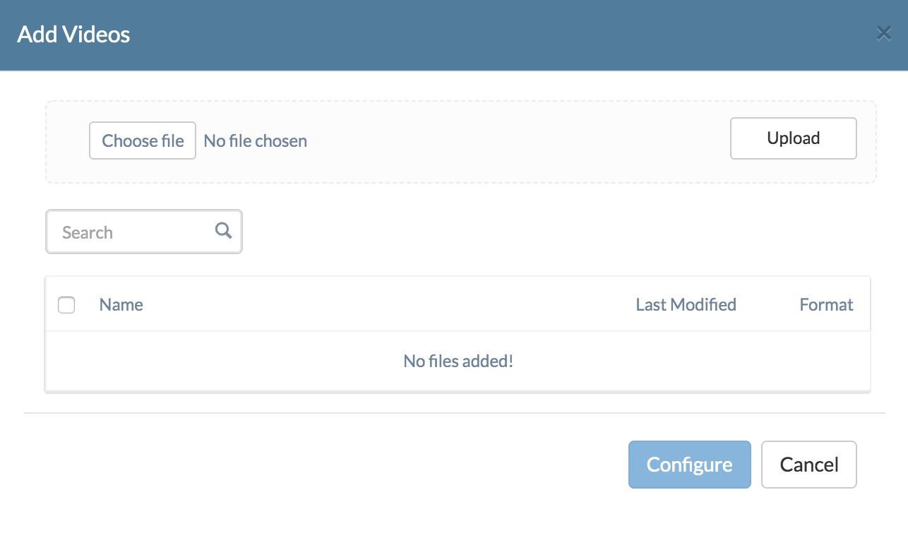 Configure Video Settings