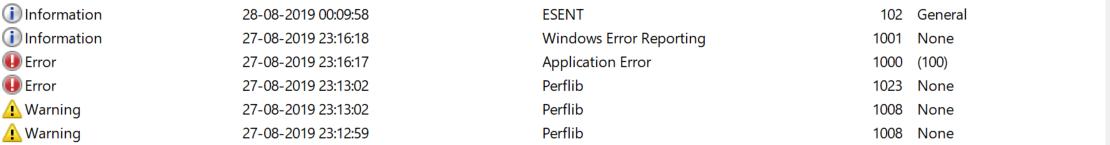 windows device log types