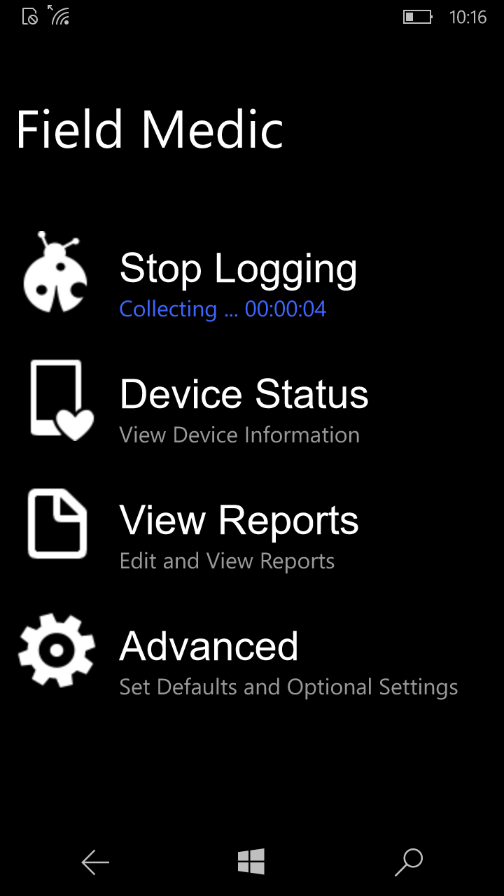 collecting phone and app data