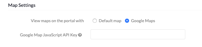 View maps on the portal with Default Map or Google Maps