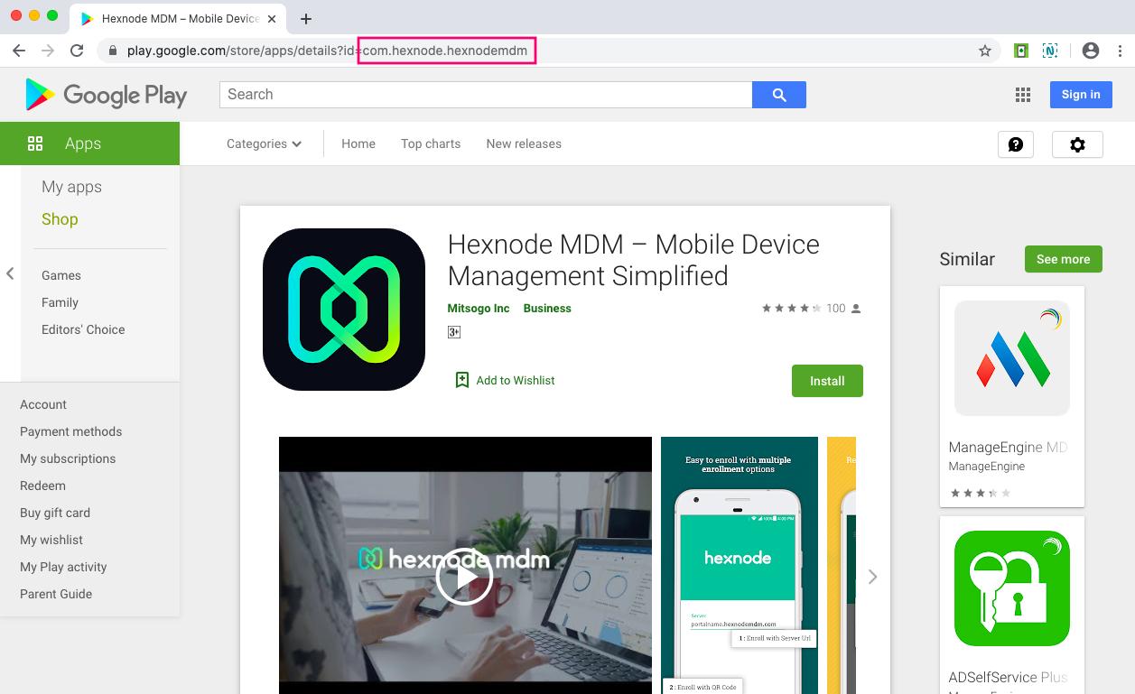 Add Hexnode MDM app using Bundle ID