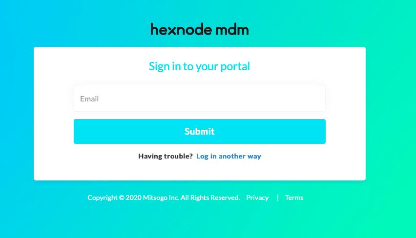 Sign in to Hexnode via Okta
