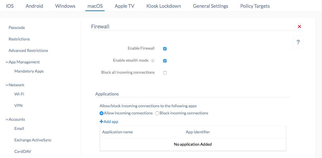 Enable firewall and stealth mode on macOS