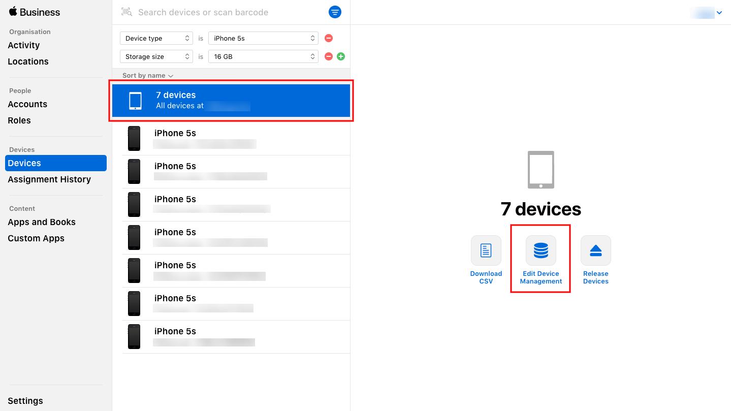 Reassign MDM server for device enrollment