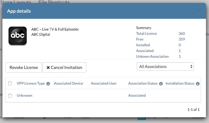 DEP VPP app license and account management via MDM
