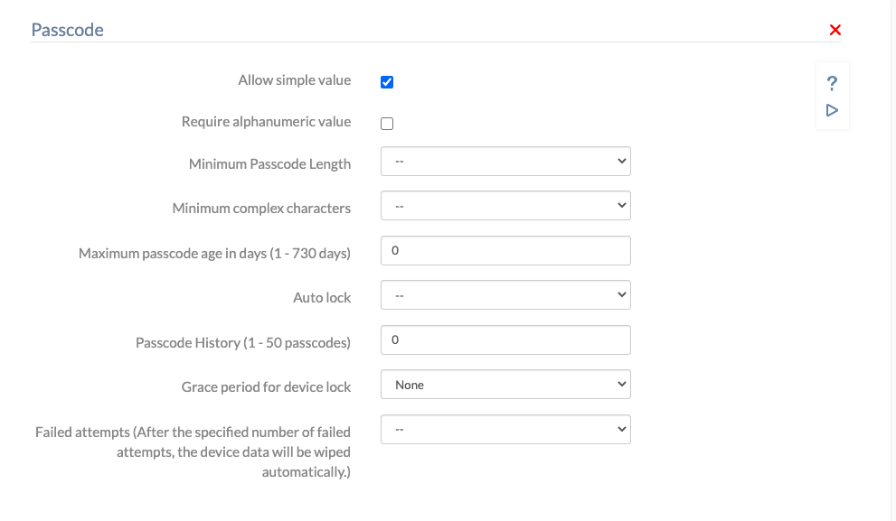 Automatic wipe due to failed attempst in Hexnode mobile device management
