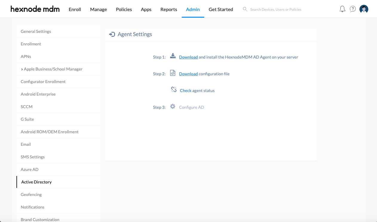 Microsoft Active Directory Integration with Hexnode MDM
