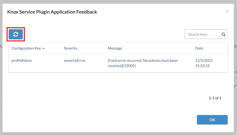 App feedback sync