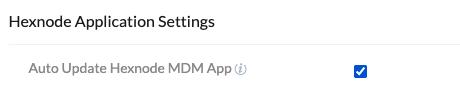 Hexnode Application Settings