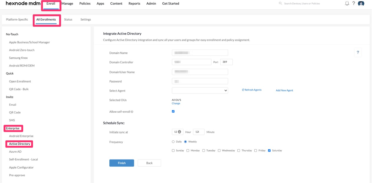 AD integration with Hexnode MDM