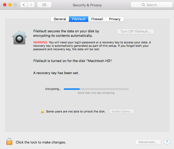 Encrypt macOS devices using FileVault