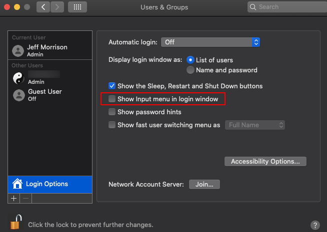 Configure login window preference settings for Mac devices via Hexnode MDM