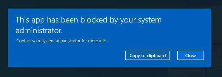 the device blocks non-whitelisted apps on Windows multi-app kiosk