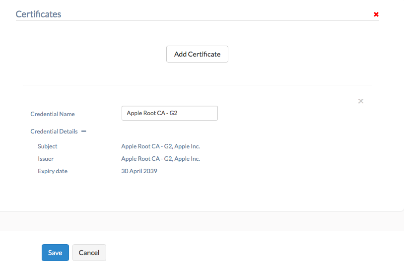 Add certificates for Apple TV with Hexnode MDM