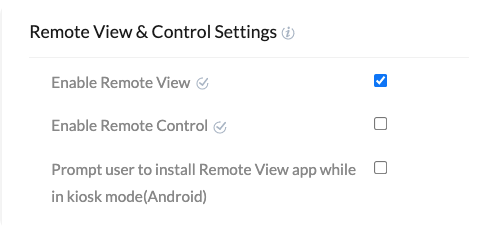 Check Enable Remote View to activate the feature