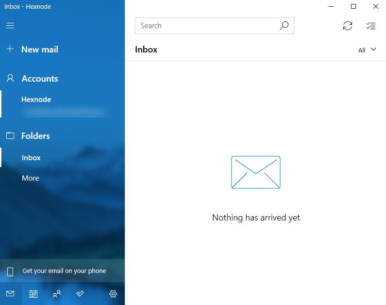 email account configured on the Mail app