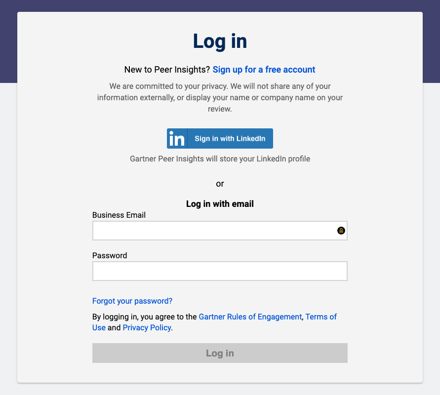 Step-1-gartner-peer-insights-log-in-using-business-email
